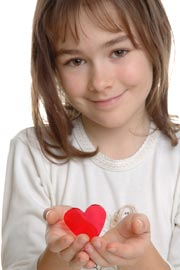 Young Girl with Heart - Healthy Heart Diet