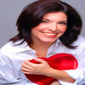 Smiling Woman with a healthy heart